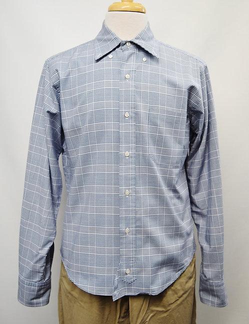 Brooks Brothers Black Fleece Blue Print Shirt Size Large