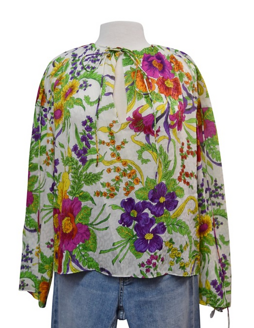Balenciaga Floral Blouse Size Small