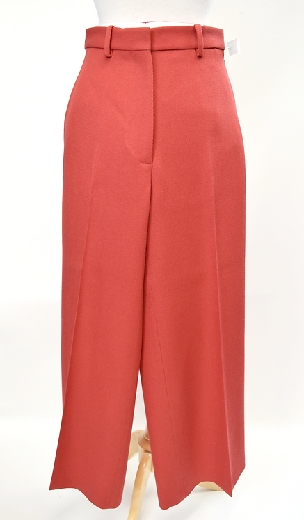 Victoria Beckham Red Wide Leg Pants Size 8
