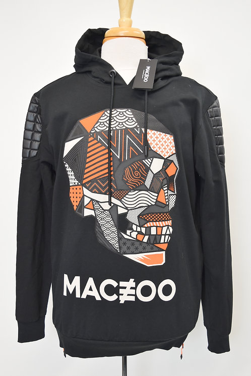 Maceoo Black Graphic Hoodie Size Large