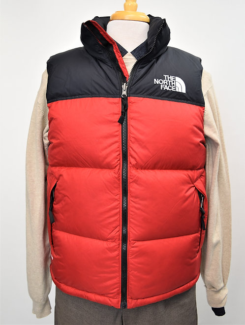 The North Face Black & Red Puffer Vest Size Medium