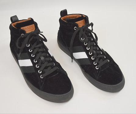 Bally Black Velvet High-Tops Size 12