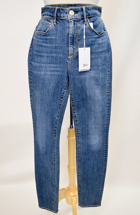 3X1 Light Wash Channel Seam Skinny Jeans Size 27