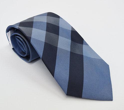 Burberry Blue Plaid Silk Tie