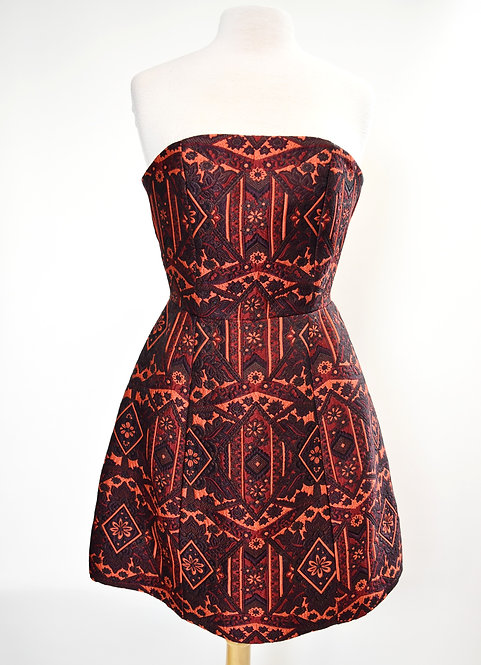 Alice + Olivia Maroon Jacquard Dress Size 6