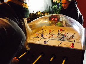 Bubble Hockey at Old Space