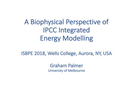 A Biophysical Perspective of IPCC Integrated Energy Modeling.