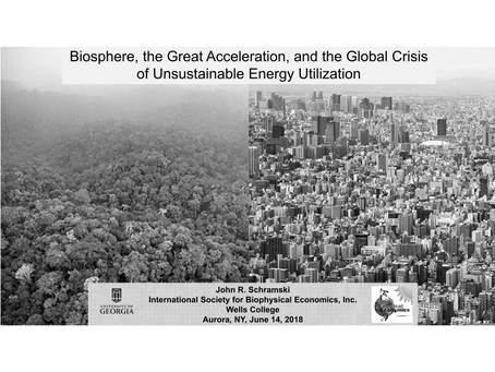 Biosphere, the Great Acceleration, and the Global Crisis of Unsustainable Energy Utilization