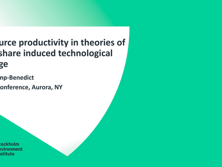 Resource productivity in theories of cost-share induced technological change