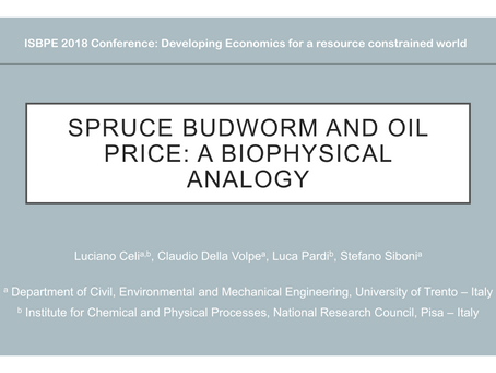 Spruce budworm and oil price: a biophysical analogy