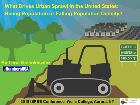What Drives Urban Sprawl in the United States: Rising Population or Falling Population Density?
