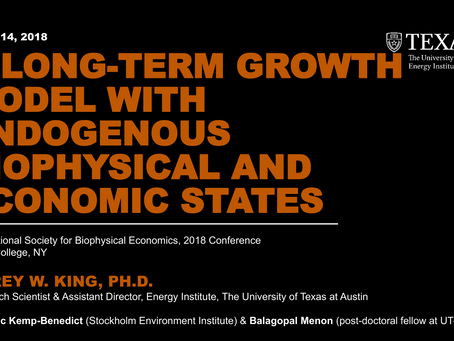 A Long-Term Growth Model with Endogenous Biophysical and Economic States