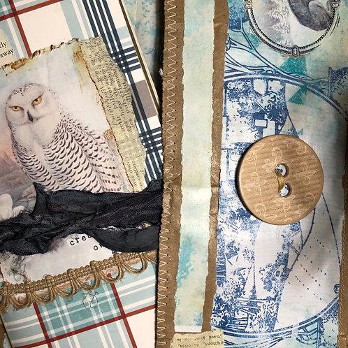 Winter Woodlands Junk Journal - Owl