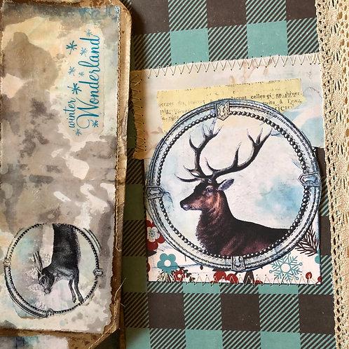 Winter Woodland Junk Journal -Deer