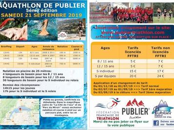 Flyer - 5ème Aquathlon de Publier