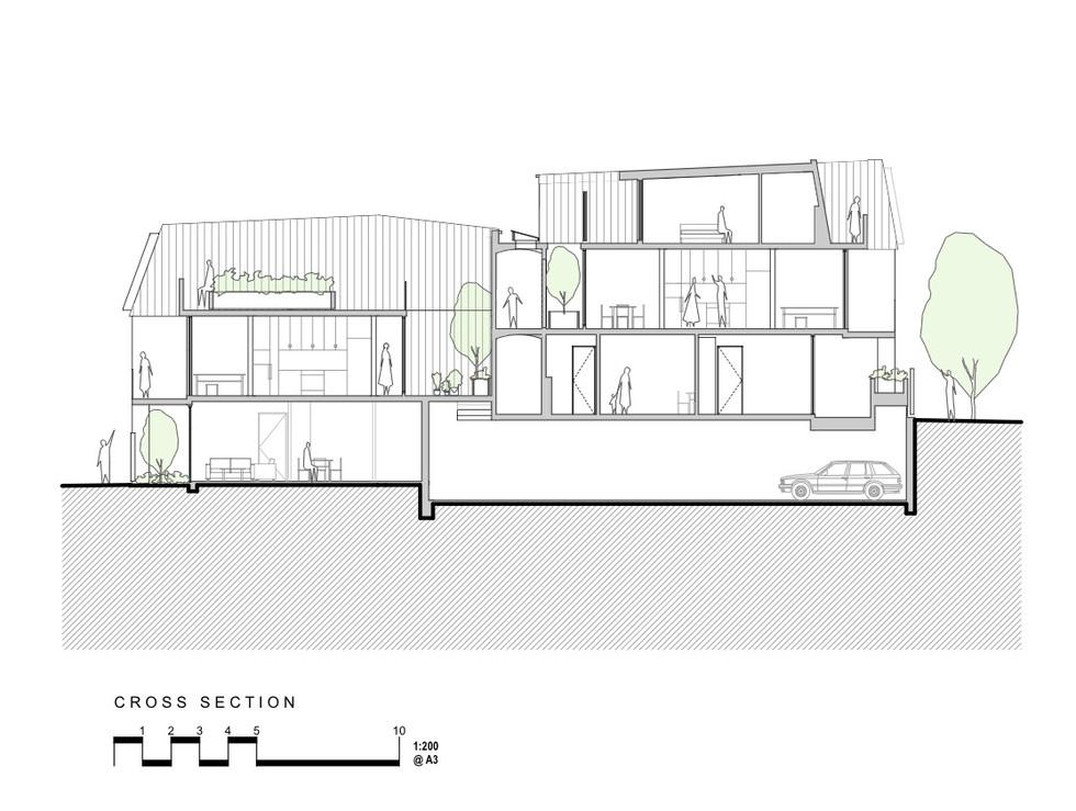 9. Cross Section Courtyards - Darlington
