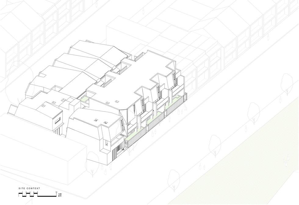 0. Site Context Axo - Darlington Brickwo