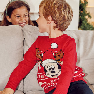 Pull jacquard Mickey pour enfant