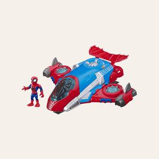 Véhicule Super Hero Adventures Spider-Man Jetquarters