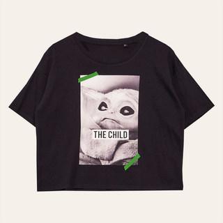 T-shirt crop top noir Femme l'Enfant