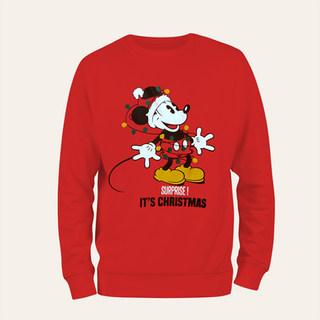 Sweat de Noël Mickey adulte
