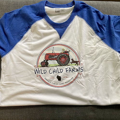 Wild Child Farms New Era 3/4 Sleeve Baseball Shirt