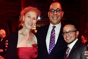Carrie Davis with Brian Offutt and friend at the LGBT Community Center's November 2015 Women's Event to help raise funds to benefit The Center's programs and services for lesbians, bisexual women and transgender people. New York, NY