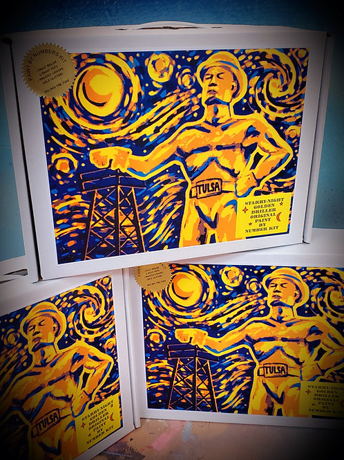 GOLDEN DRILLER-STARRY NIGHT PAINT BY NUMBERS KIT