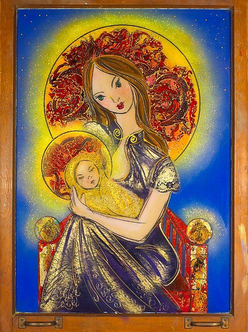 Christmas Madonna Golden 13x19