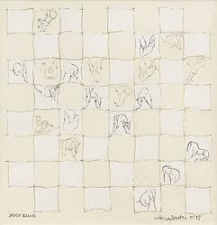 Chess Piece Deep Blue Anna Barden