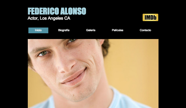 Entretenimiento website templates – Actor