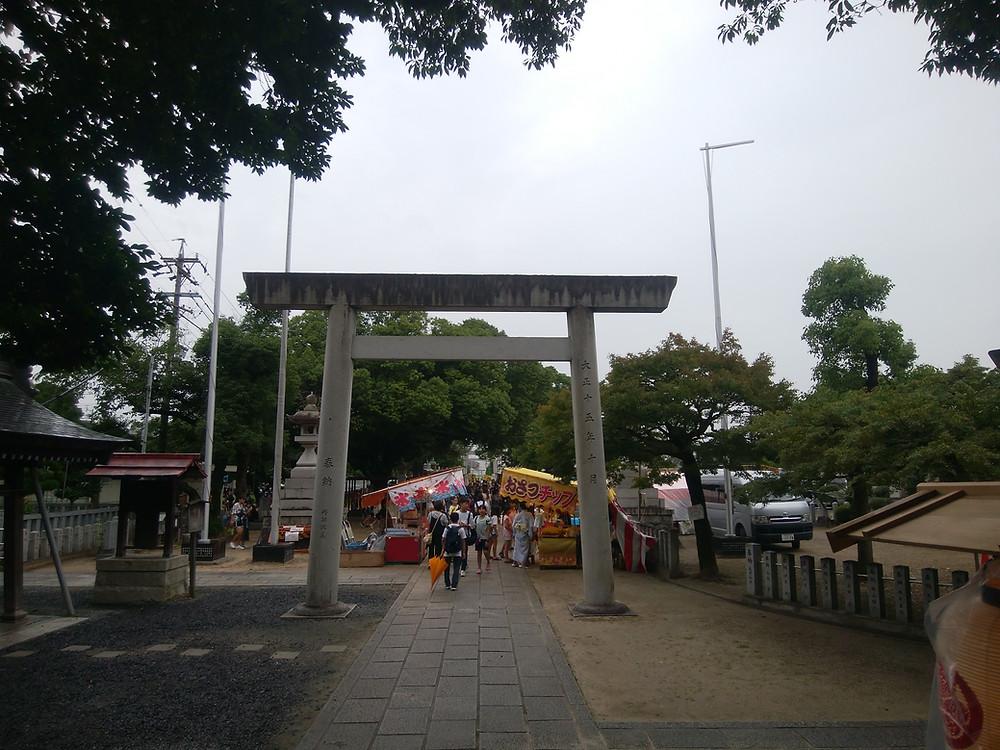 総天王祭前境内
