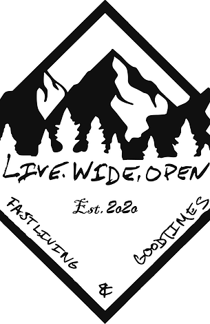 Live Wide Open Decal Pack- Qty 5