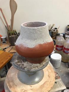 White Oak Ash Vessel (in process)