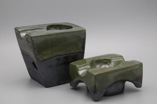 Caverna Magica & Toro Doble, porcelain, Green Rothko