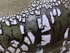 Jagged Crackle Vessel, detail