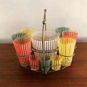 Awning Stripe Beverage Set