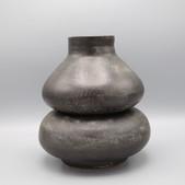 Duplex Vase/Ikebana Bowl with flower frog, 2 pieces