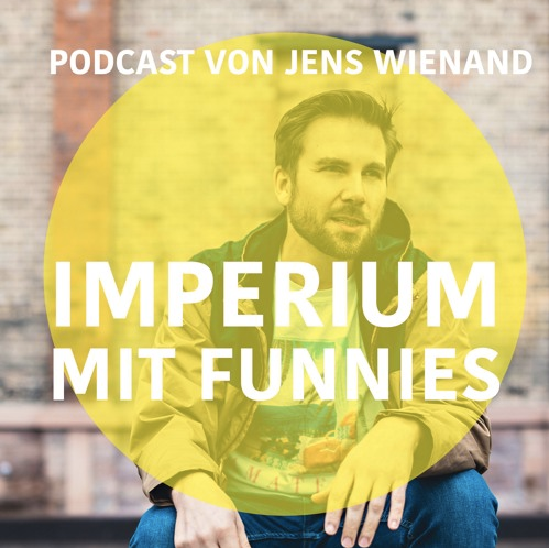 Mann vor Mauer, Logo des Podcasts