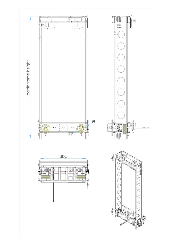 cabin frame G type 2.1 pulleys at bottom