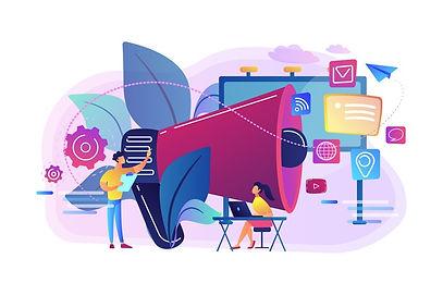 marketing-team-work-huge-megaphone-with-