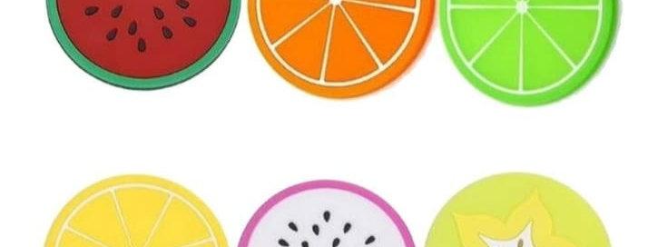 Meyve Şeklinde Bardak Altlığı 6'lı