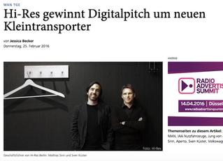 Hi-Res! gewinnt den digitalen Etat von MAN Van!