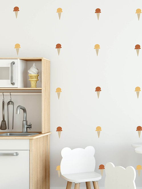 Single Scoop Gelato Wall Decals