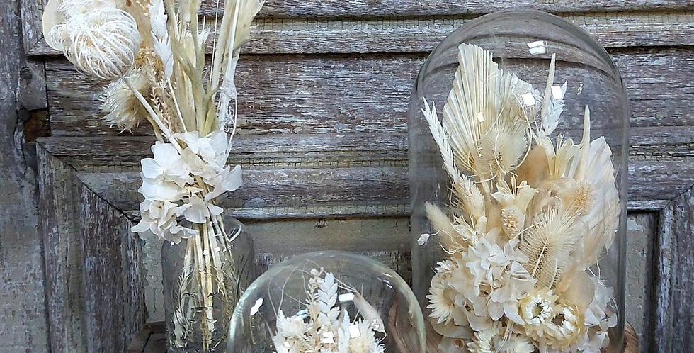 Dôme de fleurs séchées