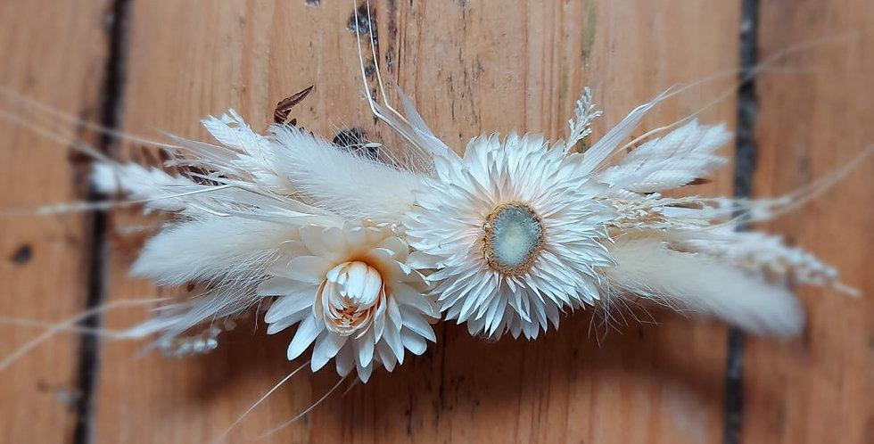 Barette de fleurs sechées