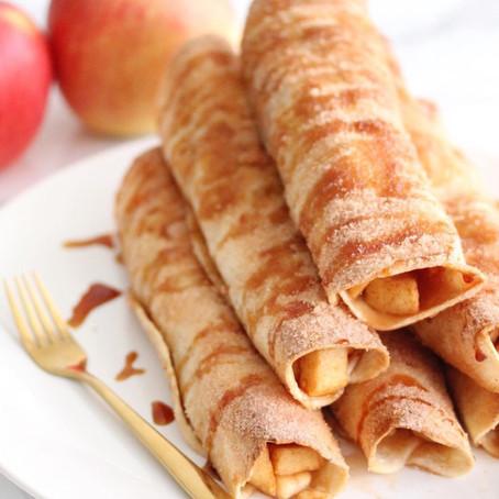 Warme appeltaart tortilla's