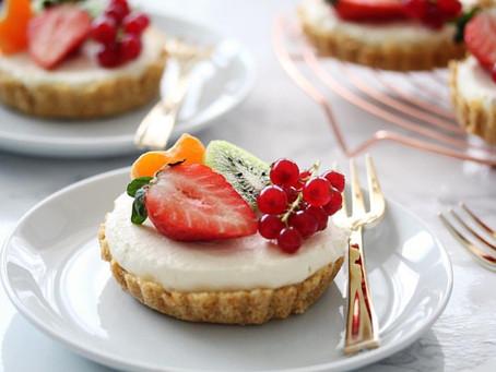 Tartelettes met zomers fruit