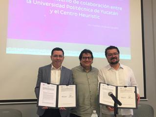 Firman convenio la UPY y Centro Heuristic