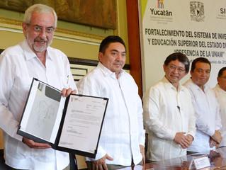Visita la UPY delegación de la UNAM
